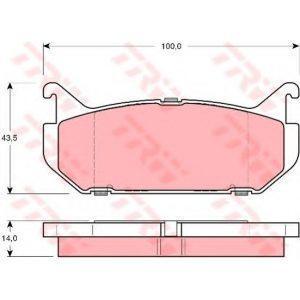 Колодки дисковые задние (416.00) REMSA - Іспанія