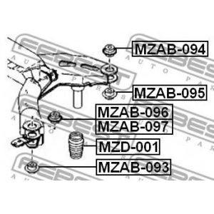 Отбойник амортизатора (GJ6A-28-1A0A) MAZDA - Японія