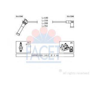 Провода высоковольтные комплект (FS50) JANMOR - Польша