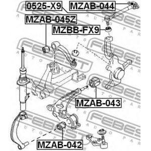 Сайлентблок переднего поперечного рычага (BSA-MZ007) GLOSS - Індонезія
