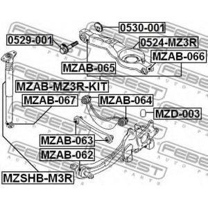 Болт развала (BP4K-28-66ZB) MAZDA - Японія