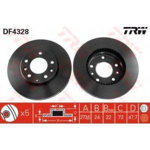 Диск тормозной передний (DF4328) TRW - Німеч-на