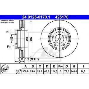 Диск тормозной передний (98200 1304 0 1) TEXTAR - Німеч-на