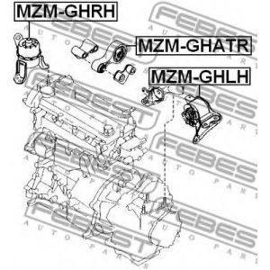 Подушка двигателя задняя (GS1G-39-040A) MAZDA - Японія