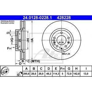 Диск тормозной передний (30H3063JPN) JPN - Японія