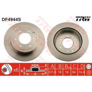 Диск тормозной передний (DF4958S) TRW - Німеч-на