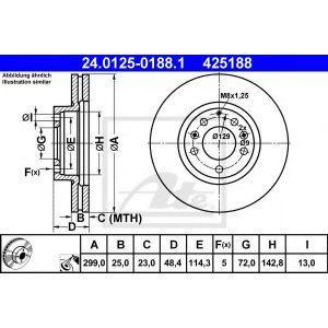 Диск тормозной передний (30H3061JPN) JPN - Японія