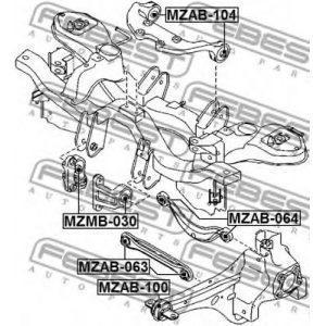 Подушка двигателя дифференциала передняя (EG25-28-68XA) MAZDA - Японія